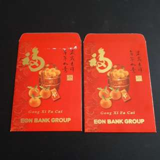 Angpao Red Packet Chinese New Year Eon Bank