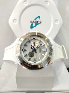 * FREE DELIVERY * Brand New 100% Authentic Casio BabyG White & Pearl Dial Baby G Ladies Watch Baby-G BGA225 7 BGA225-7ADR
