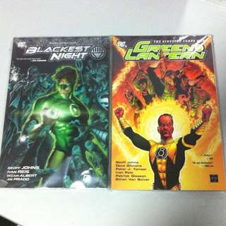 Green Lantern Blackest Night And Sinestro War Set