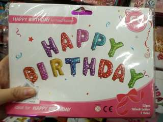 13pcs Birthday letter balloons