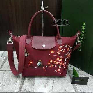 Longchamp Sakura Medium Red