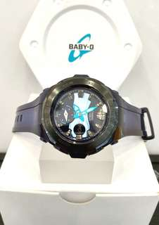 * FREE DELIVERY * Brand New 100% Authentic Casio BabyG Blue on Black Steel Bezel Baby G Ladies Watch baby-G BGA220B 2 BGA220B-2ADR