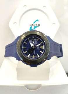 * FREE DELIVERY * Brand New 100% Authentic Casio BabyG Matt Black on Black Steel Bezel Baby G Ladies Watch Baby-G BGA225G 2 BGA225G-2ADR