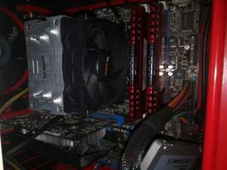 Intel i7-2600k with Asus P8Z68-M Pro mATX MICRO-ATX Motherboard and Be Quiet CPU cooler and 2x4gb Corsair Vengeance