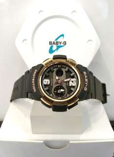 * FREE DELIVERY * Brand New 100% Authentic Casio BabyG Rose Gold Bezel Baby G Ladies Watch Baby-G BGA210 1 BGA210-1BDR