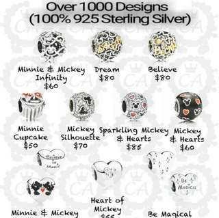 Over 1000 Designs (925 Sterling Silver Charms) To Choose From, Compatible With Pandora, T17
