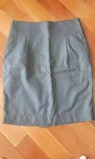 Formal grey skirt