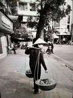 Artistic B & W photo in 11 x 14 inch frame - photo taken by owner in Hanoi