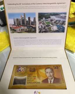 Commemorate $50 polymer notes (complete set w original folders)