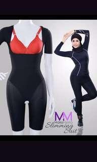 Raya promo!!Malia Mellia slimmimg corset with sleeves n thigh