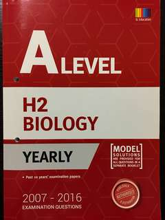 A Level H2 Biology 10 Years' Examination Papers