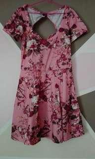 Floral Backless Dress