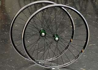HED Belgium laced with CK silver hubs
