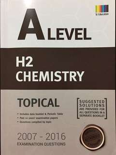 Shing Lee SL Education A Level H2 Chemistry Topical Examination Questions TYS Ten Year Series