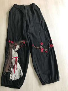 INSTOCK EMBROIDERY PANTS