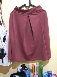 Dark pink midi skirt