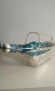 Wine Bottle Metal Basket