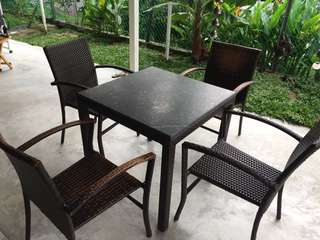 Outdoor Furniture Set with Customised Granite Top