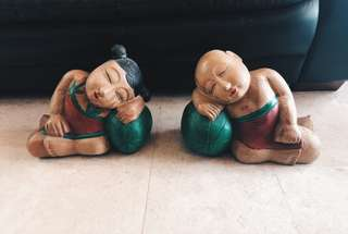 Balinese style wood figurines