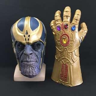 Thanos Infinity War Cosplay Mask And Infinity Gauntlet