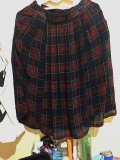 Vintage checkered skirt