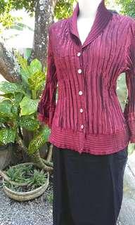 Set rok+blouse maroon size M