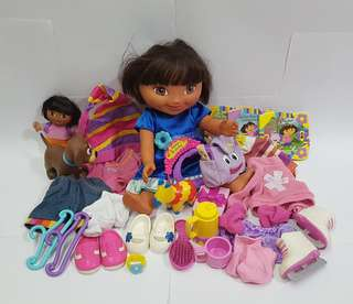 Dora the Explorer doll dress up lot.