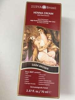 Henna cream dark brown