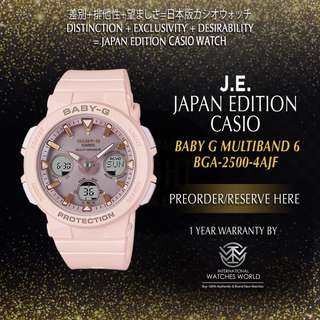 CASIO JAPAN EDITION BABY G BEACH TRAVELER SERIES MULTIBAND 6 BGA2500-1AJF/ BGA2500-2AJF/ BGA2500-4AJF/ BGA2500-7AJF