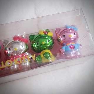 Hello Kitty 日本限定 公仔擺設一套 005426