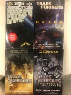 Transformers books - Ender's game book