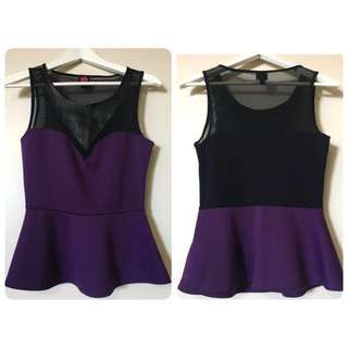 Bebe peplum top collection in small size
