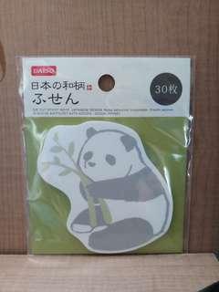 日本大創 熊貓memo