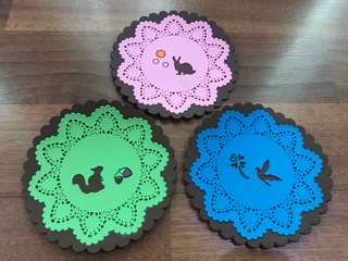 Alas Gelas/Coaster (1set=3pcs)