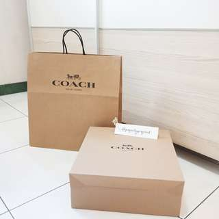 Coach Authentic Box Paperbag Set Paper bag branded original