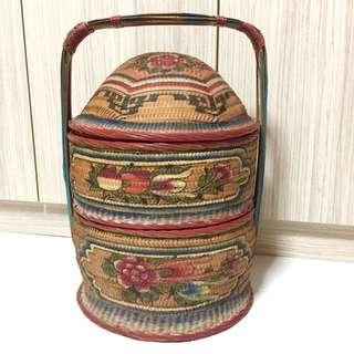 Exquisite 2-tier Chinese Vintage Wedding Basket (guodali)