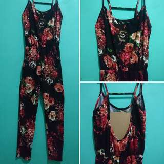 Backless Jump Suit