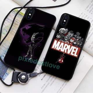 marvel superheroes and black panther phone casing