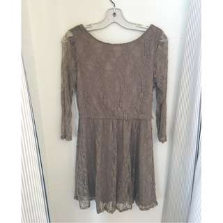 Beige/taupe Lace Dress