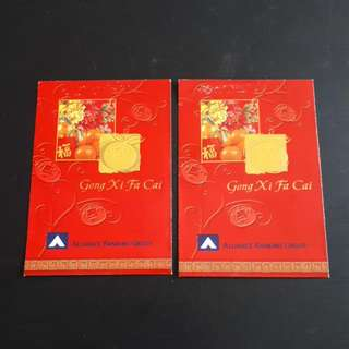 Angpao Red Packet Chinese New Year Alliance Bank