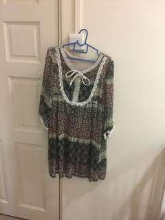 Bohemian style dress/Long top
