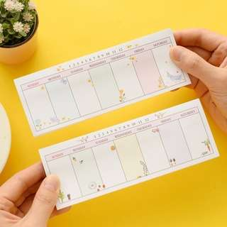 Weekly Plan Sticky Memo Pad
