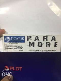 For Sale Paramore Lower Box B Tickets