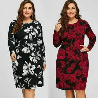 Floral Printed Dress XL - 5XL Preorder Only