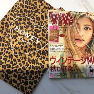 VIVI Magazine plus bonus tote bag Honey