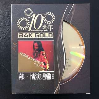Leslie Cheung  张国荣 Passion Tour (24K GOLD) Limited Edition Numbered CD