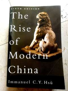 The Rise of Modern China (6th Edition)