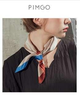 PIMGO,色塊拼接領巾✨