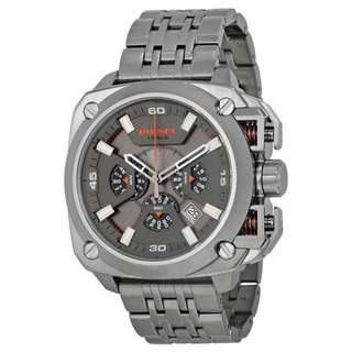 BAMF CHRONOGRAPH GREY DIAL GREY ION-PLATED MEN'S WATCH DZ7344