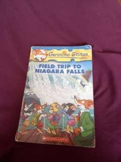"Geronimo Stiltson ""Field Trip to Niagara Falls"" book"